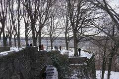 Fort Tryon Park Winter Royalty Free Stock Photo