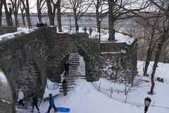 Fort Tryon Park Winter Stock Photo