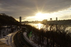 Fort Tryon Park Winter Stock Image