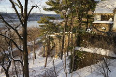 Fort Tryon Park Winter Stock Images