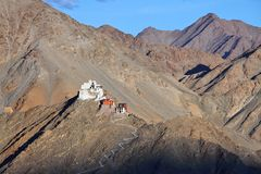 Fort and Tsemo Gompa, Leh, Ladakh Stock Photos