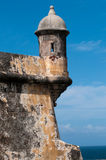 Fort Turret. A watchtower on the Fort Turret, in San Juan Royalty Free Stock Image