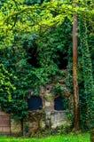 Fort Uhrich-Wand in Illkirch Graffenstaden stockfotos