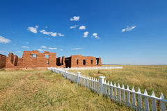 Fort Union National Monument. Old hospital remaining at Fort Union National Monument, NM Stock Images