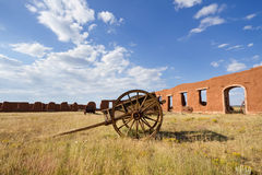 Fort Union National Monument. Old wagons and adobe ruins at Fort Union National Monument, NM Royalty Free Stock Photography
