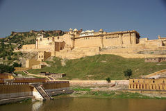 Fort van Amber, India Stock Afbeeldingen
