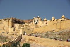 Fort van Amber, Rajasthan Royalty-vrije Stock Afbeeldingen
