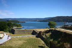 Fort van Niebla, Chili Stock Foto