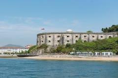 Fort van San Martin, Santoña, Cantabrië, Spanje stock afbeeldingen