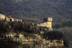 Fort in Veliko Tyrnovo. Tower of fort in old capital of Bulgaria royalty free stock photo