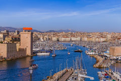 Fort and Vieux Port - Marseille France Stock Photos