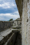 Fort view. Exterior of fort of first world war Royalty Free Stock Photography