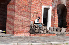 FORT VILLE DE DELAWARE, DELAWARE, DE - 1ER AOÛT : Parc d'état du Delaware de fort, forteresse historique de guerre civile des syn Photographie stock