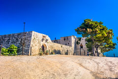 Fort on Vis island, Croatia. Scenic view at old fort on Island Vis, South of Croatia Stock Photo