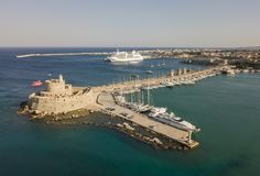 Fort von Sankt Nikolaus in Rhodos Lizenzfreie Stockfotografie