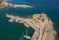 Fort von Sankt Nikolaus in Rhodos Stockbilder
