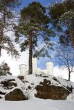 Fort in Vyborg stock images