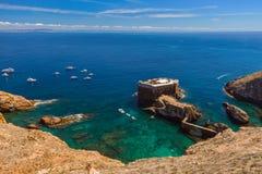 Fort w Berlenga wyspie - Portugalia zdjęcie royalty free