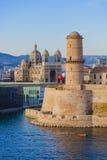 Fort w Vieux porcie - Marseille Francja Obraz Stock