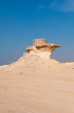 Fort w Zekreet pustyni Katar, Środkowy Wschód Obraz Royalty Free