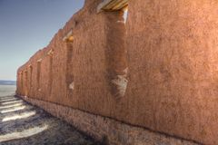 Fort wall. Wall that was part of a fort that was in New Mexico Royalty Free Stock Photography