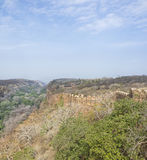 Fort wall in the forest. Ranthambhore fort wall +along the forest, Rajashtan,India Royalty Free Stock Photography