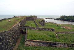 Fort Wall In Galle Stock Image