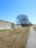 Fort wall, Quebec city, Canada Royalty Free Stock Photo