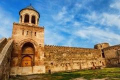 Fort and wall of Svetitskhoveli Orthodox Cathedral in Mtskheta, Georgia Royalty Free Stock Photos