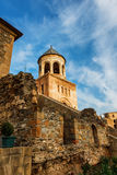Fort and wall of Svetitskhoveli Orthodox Cathedral in Mtskheta, Georgia Royalty Free Stock Photo