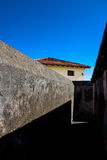 Fort walls in Baracoa. Cuba Stock Image