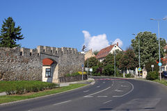 Fort walls Pecs street. Hungary Royalty Free Stock Image