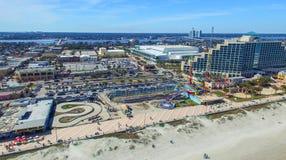 FORT WALTON FL, LUTY, - 2016: Powietrzny miasto widok Fort Walton ja Obrazy Stock