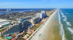 FORT WALTON FL, LUTY, - 2016: Powietrzny miasto widok Fort Walton ja Obraz Royalty Free