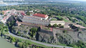Djava Fortress 7 4K. The fort was built between 1692 and 1780. because of the constant danger from the Turks and the vicinity of the border with the Ottoman stock footage