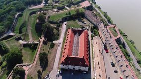Djava Fortress 13. The fort was built between 1692 and 1780. because of the constant danger from the Turks and the vicinity of the border with the Ottoman Empire stock video footage