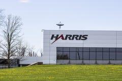 Fort Wayne - circa aprile 2017: Harris Controls Engineering Division Harris Corporation è una società del settore della difesa I Immagini Stock