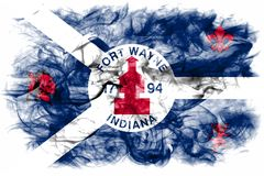 Fort Wayne city smoke flag, Indiana State, United States Of Amer. Ica stock images
