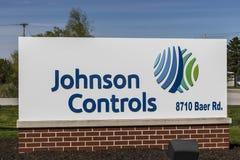 Fort Wayne Około Kwiecień 2017 -: Johnson Kontroluje lokację Johnson kontrola ostatnio wcielali z Tyco International Mnie obrazy stock