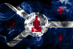 Fort Wayne Stadtrauchflagge, Indiana State, Vereinigte Staaten von Amer Stockbild