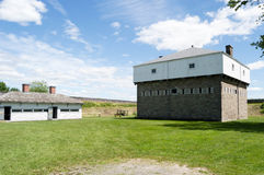 Fort Wellington Blockhouse. Located in Fort Wellington, Prescott, Ontario, Canada.  The site is administered by Parks Canada as a National Park Royalty Free Stock Photography