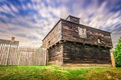 Fort Western, Augusta, Maine. Augusta, Maine, USA at historic Fort Western Stock Image