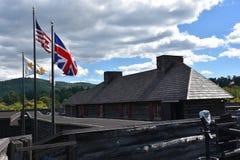 Fort William Генри в озере Джордж, Нью-Йорке стоковые изображения rf