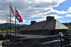 Fort William Henry i sjön George, New York Royaltyfria Bilder