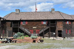 Fort William Henry in Lake George, New York. (USA Royalty Free Stock Photo