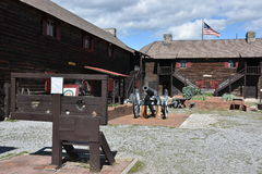 Fort William Henry in Lake George, New York. (USA Stock Photos