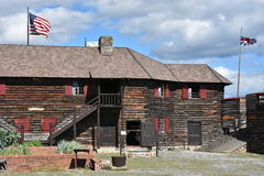 Fort William Henry in Lake George, New York. (USA Royalty Free Stock Photos