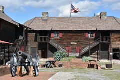 Fort William Henry in Lake George, New York. (USA Royalty Free Stock Photography