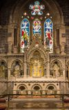 Altar and backdrop of Saint Andrews Church, Fort William Scotlan Stock Photos