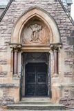 Main entrance into Saint Andrews Church, Fort William Scotland. Fort William, Scotland - June 11, 2012: The main entrance into Saint Andrews Church features a royalty free stock images